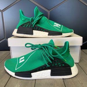 Used Adidas Pharrell Human Race NMD Green Size 7